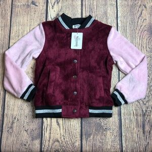 Speechless KIDS Small Ribbed Varsity Jacket Coat